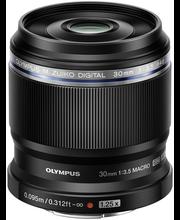 Olympus m.zuiko 30mm f/3.5 objektiivi musta