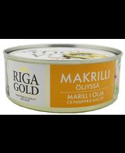 OLD RIGA Makrillipala öljyssä 240g/168g