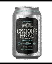 Crooks Head dram 0,33L tölkki grapefruit-cucumber 4,7% lonkero