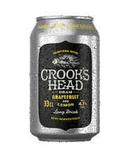 Crooks Head dram 0,33L tölkki grapefruit-lemon 4,7% lonkero