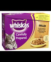 Whiskas 12x85g Grillattua Siipikarjaa lajtelma hyytelössä, kana, siipikarja, ankka, kalkkuna