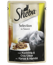 Sheba Selection 85g kanaa&härkää kastikkeessa, täysrehua aikuisille kissoille