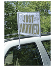 Just Married lippu autoon