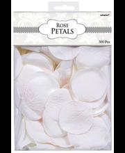 Ruusunterälehdet valkoinen 300 kpl