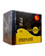 Maxell CD-R 80 XLS 52x nopeuksinen 700 MB kert. kirjoitettava cd-levy