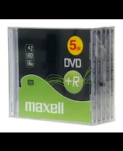 Maxell DVD+R 4.7 GB 16x nopeuksinen kertaalleen kirjoittettava dvd-levy data/video, cd-kotelo