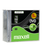 Maxell DVD+R 8.5GB data 240 min video 8x nopeuksinen kaksikerroksinen dvd-levy