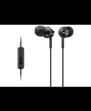 Sony MDR-EX110APB nappikuulokkeet mikrofonilla, musta