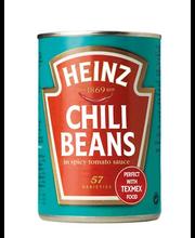 Heinz 390g Chili beans valkoisia papuja mausteisessa tomaattikastikkeessa
