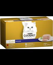 Gourmet 4x85g Gold Mousse lajitelma 4 varianttia kissanruoka
