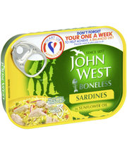 John West 95/67g Ruodottomia sardiineja auringonkukkaöljyssä