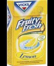 Vicks 40g Fruity Fresh Lemon sokeriton kurkkupastilli