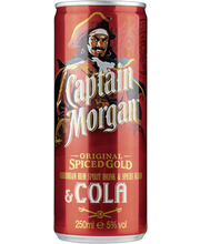 Captain Morgan & Cola 250ml tlk