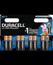 Duracell 8kpl Ultra Power AA alkaliparisto