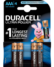 Duracell 4kpl Ultra Power AAA alkaliparisto