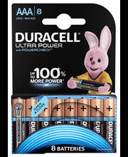 Duracell 8kpl Ultra Power AAA alkaliparisto