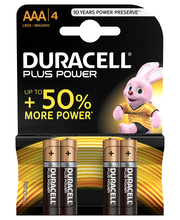 Duracell 4kpl Plus Power AAA alkaliparisto