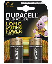 Alkaliparisto Duracell Plus Power C, 2 kpl