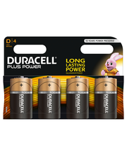 Duracell 4kpl Plus Power D alkaliparisto