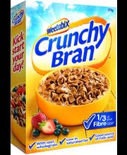 Weetabix 375g Crunchy Bran täysjyvä runsaasti kuitua sisältävä vehnäkuitumuro