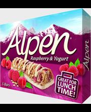 Alpen 5x29g omena-vadelma jogurtinmakuinen kuorrutus moniviljapatukka