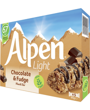 Alpen Light 5x19 g Suklaa & fudge myslipatukka