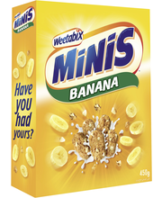 Weetabix Minis 450 g Banaani vehnä minimuroke