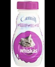 Whiskas 200ml Kissanmaito täydennysrehua aikuisille kissoille ja yli 6 viikon ikäisille kissanpennuille.