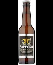 Sapporo 33cl Premium Lager 4,7% pullo Olut