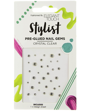 ET Nail Stylist Pre-Glued Crystal Clear kynsikoristeet