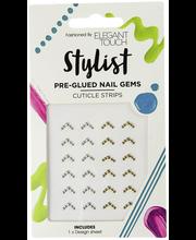ET Nail Stylist - Pre-glued Stud Cuticle Strips kynsikoristeet