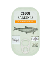 Tesco sardines in sunf...