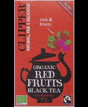Musta tee punaiset mar...