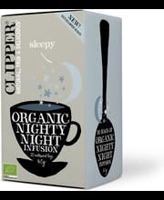 Clipper Nighty Night 40g yrttihauduke kamomilla-sitruuna luomu 20pss