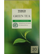 Tesco  green tea  20  ...