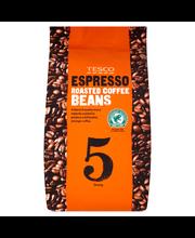 Tesco espresso  coffee...