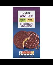 Tesco Free From 200g Milk Chocolate digestive biscuits suklaadigestivekeksi gluteeniton