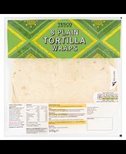 Plain tortilla wraps 320g