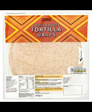 Wholewheat tortilla wraps