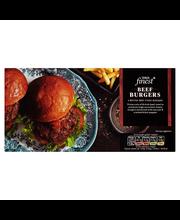 Tesco Finest 454g (4 kpl) maustettuja jauhelihapihvejä pakaste