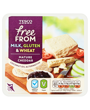 Tesco free from mature cheddar style 200g