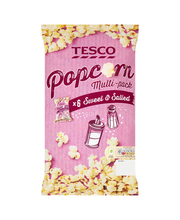 Tesco 84g Sweet & Salted Popcorn 6-pack