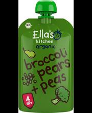 Ella's Kitchen 120g Broccoli pears+peas, Parsakaali päärynä herne sose, alkaen 4kk, luomu