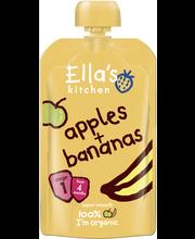 Ella's Kitchen 120g Apples+bananas, Omena banaani sose, alkaen 4 kk, luomu
