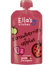 Ellas Kitchen 120g Strawberry+apples, Mansikka omena sose, alkaen 4kk, luomu