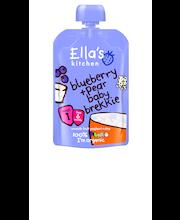 Ella's Kitchen 100g Blueberry pear baby brekkie,Mustikka päärynä brekkie lastenvälipala,alk6kk,luomu