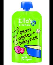 Ella's Kitchen 120g pears apples + baby rice, Päärynä omena + riisi sose, alkaen 4 kk, luomu