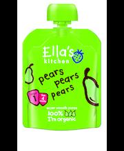 Ella's Kitchen 70g pears pears pears, päärynä hedelmäsose, luomu
