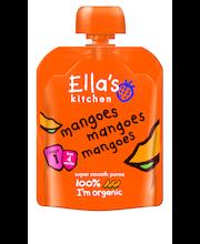 Ella's Kitchen 70g mangoes mangoes mangoes, mango hedelmäsose, luomu