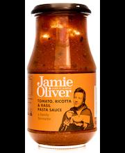 Jamie Oliver 400g tomaaatti, ricotta & basilika pasta kastike